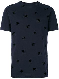 футболка с принтом ласточек McQ Alexander McQueen