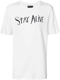 футболка с вышивкой stay alive Rochambeau