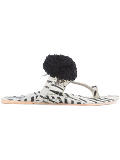 сандалии с принтом зебра Figue