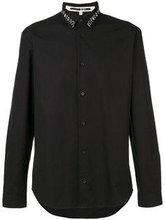 рубашка с вышивкой на воротнике McQ Alexander McQueen