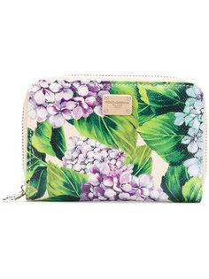 кошелек с рисунком из гортензий Dolce & Gabbana