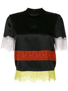 топ с кружевной отделкой Givenchy