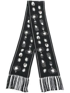 шарф с принтом перьев Alexander McQueen