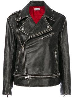 мотоциклетная куртка с эффектом потертости Red Valentino
