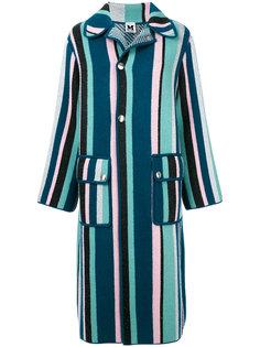 полосатое пальто M Missoni