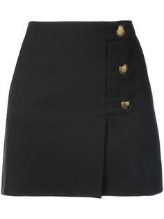 юбка мини с пуговицами  Saint Laurent