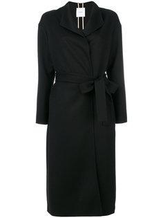 пальто с ремнем Agnona