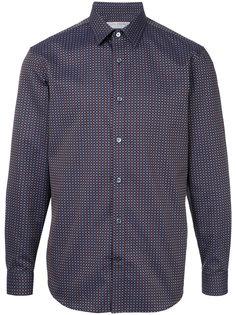 рубашка с мелким геометрическим узором Gieves & Hawkes