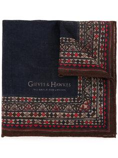 шарф с мелким принтом Gieves & Hawkes