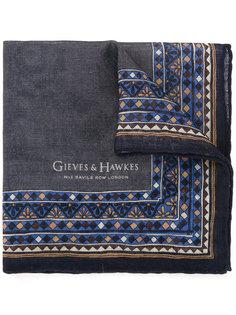 шарф с принтом Gieves & Hawkes