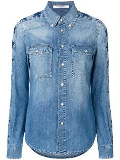 джинсовая рубашка с принтом из звезд Givenchy