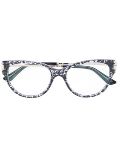 очки в овальной оправе Bulgari