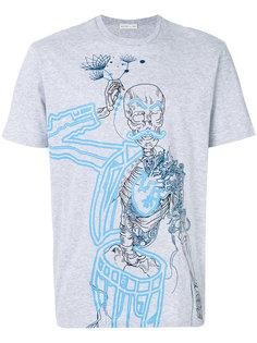 футболка с принтом скелета Etro