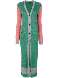 длинное пальто дизайна колор-блок Etro