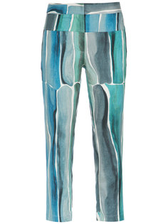 printed cropped trousers Giuliana Romanno