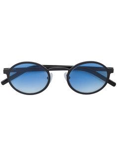 овальные солнцезащитные очки с голубыми линзами Blyszak