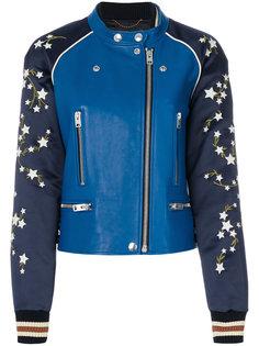 куртка-бомбер с вышивкой Coach