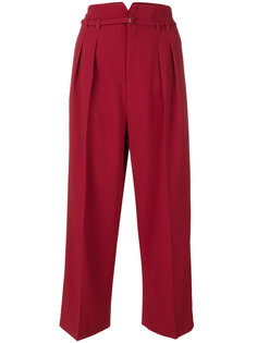 укороченные широкие брюки Red Valentino