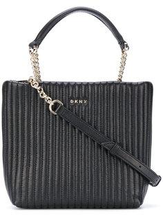 стеганая сумка-тоут в полоску  DKNY