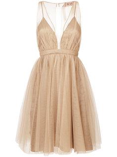 многослойное платье с вырезом Nº21