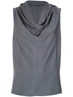 draped collar blouse Uma | Raquel Davidowicz