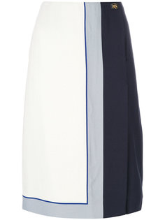 юбка с застежкой на одну сторону Salvatore Ferragamo
