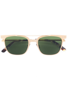 квадратные солнцезащитные очки с фактурной отделкой Bottega Veneta Eyewear