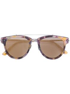 округлые солнцезащитные очки с перекладиной Bottega Veneta Eyewear