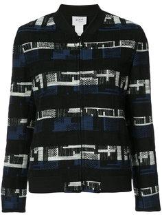 пиджак с тканым геометрическим узором  Akris Punto