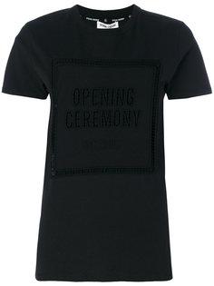 футболка с декоративными вырезами Opening Ceremony