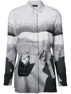 рубашка на пуговицах с поясом  Akris