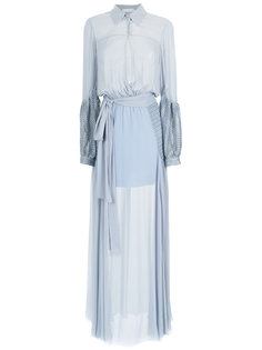 maxi silk dress Giuliana Romanno