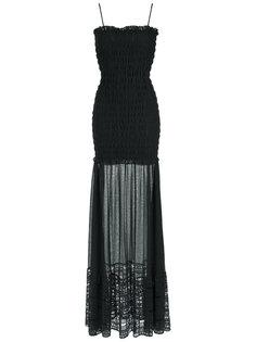 sheer maxi dress Giuliana Romanno
