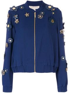 куртка-бомбер с декором из цветов Michael Michael Kors