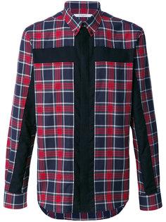 клетчатая рубашка с панелью в форме распятия  Givenchy