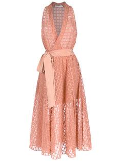 silk midi dress Giuliana Romanno