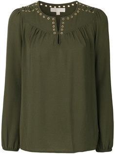блузка с отделкой люверсами Michael Michael Kors