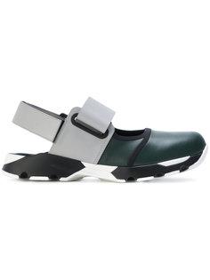 кроссовки без задника в стиле колор-блок Marni