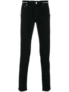 узкие джинсы с потертостями Givenchy