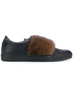 кроссовки с панелью из кроличьего меха Givenchy