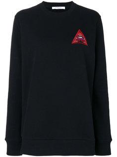 толстовка с вышивкой треугольника Givenchy