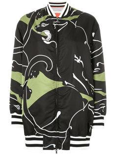 куртка-бомбер с рисунком из пантер Valentino
