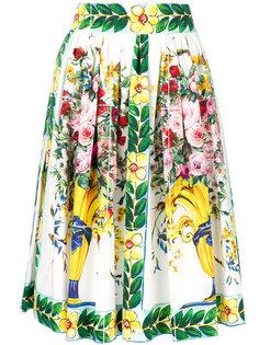 юбка с цветочным рисунком Dolce & Gabbana