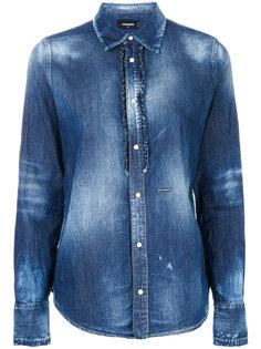 выбеленная джинсовая рубашка Dsquared2