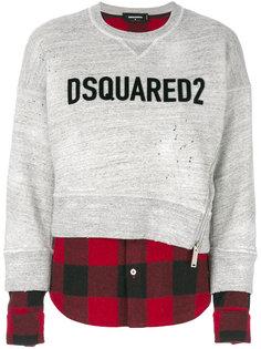 толстовка с контрастным логотипом  Dsquared2