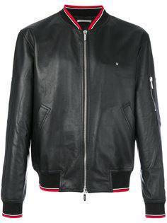 куртка-бомбер с деталью в полоску Dior Homme