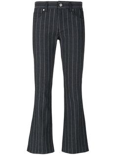 расклешенные джинсы в тонкую полоску Versace Jeans