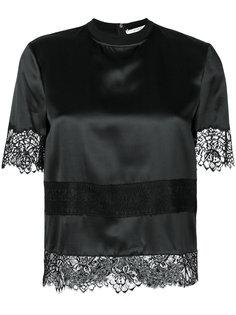 блузка с кружевной вышивкой Givenchy