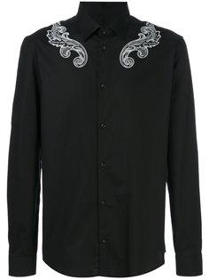 рубашка со спиралевидной отделкой Versace Collection