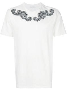 футболка с витым принтом на плечах Versace Collection